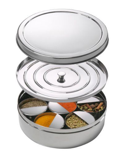 Spice Tiffin Masala Dabba With Spice Levelers In Each Bow
