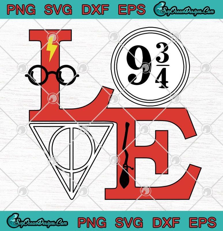 Download Harry Potter Love Valentine's Logo SVG PNG EPS DXF ...