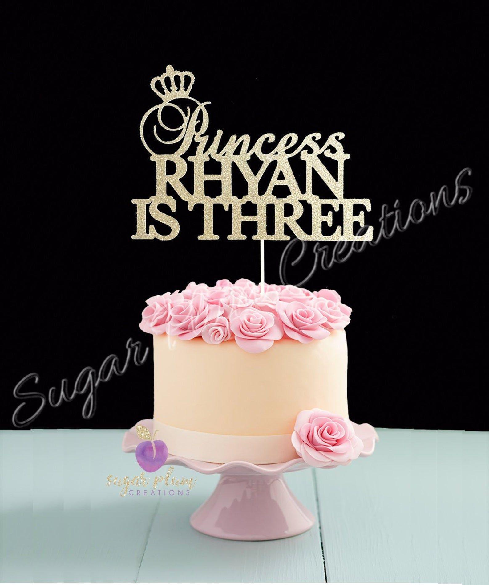 1st Birthday Cake Topper Princess Cake Topper Custom Cake Topper Girls 1st Birthday Topper One Cake Topper Glitter Cake Topper