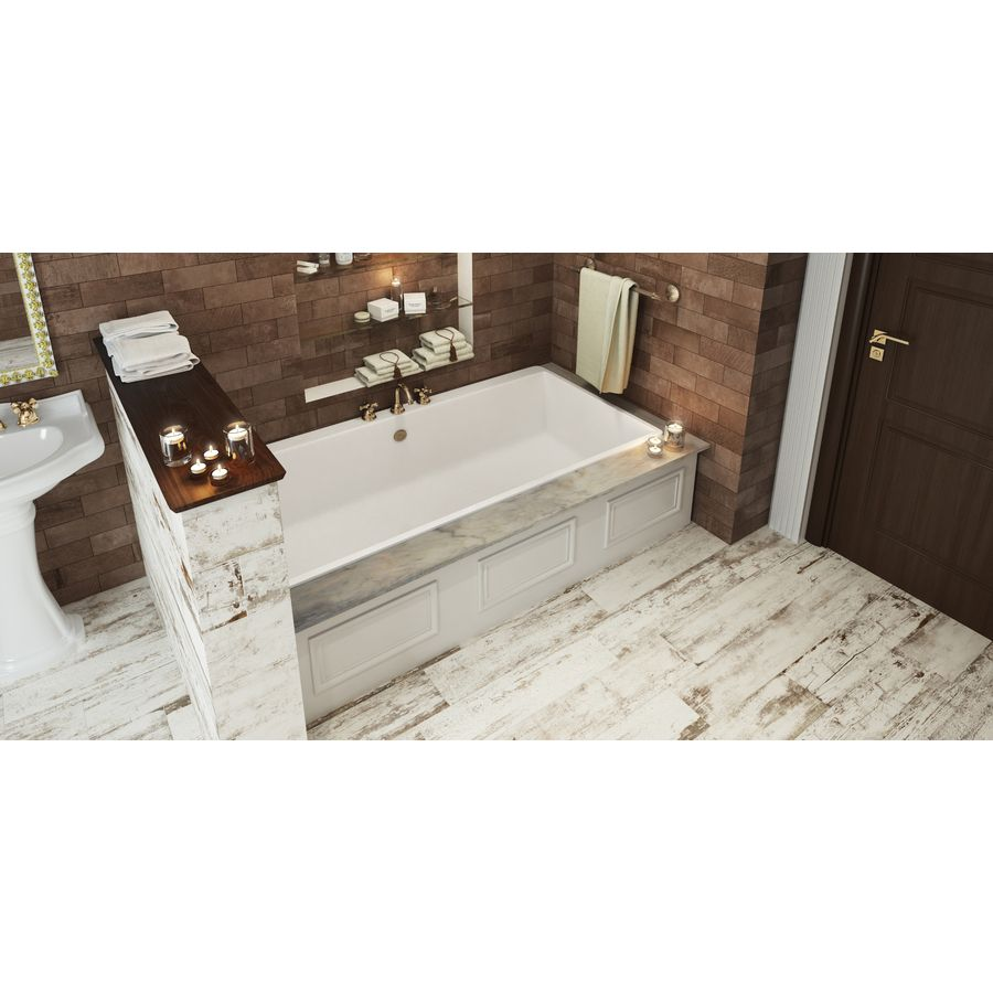 Shop style selections southend white glazed porcelain indoor shop style selections southend white glazed porcelain indooroutdoor floor tile common 8 dailygadgetfo Images