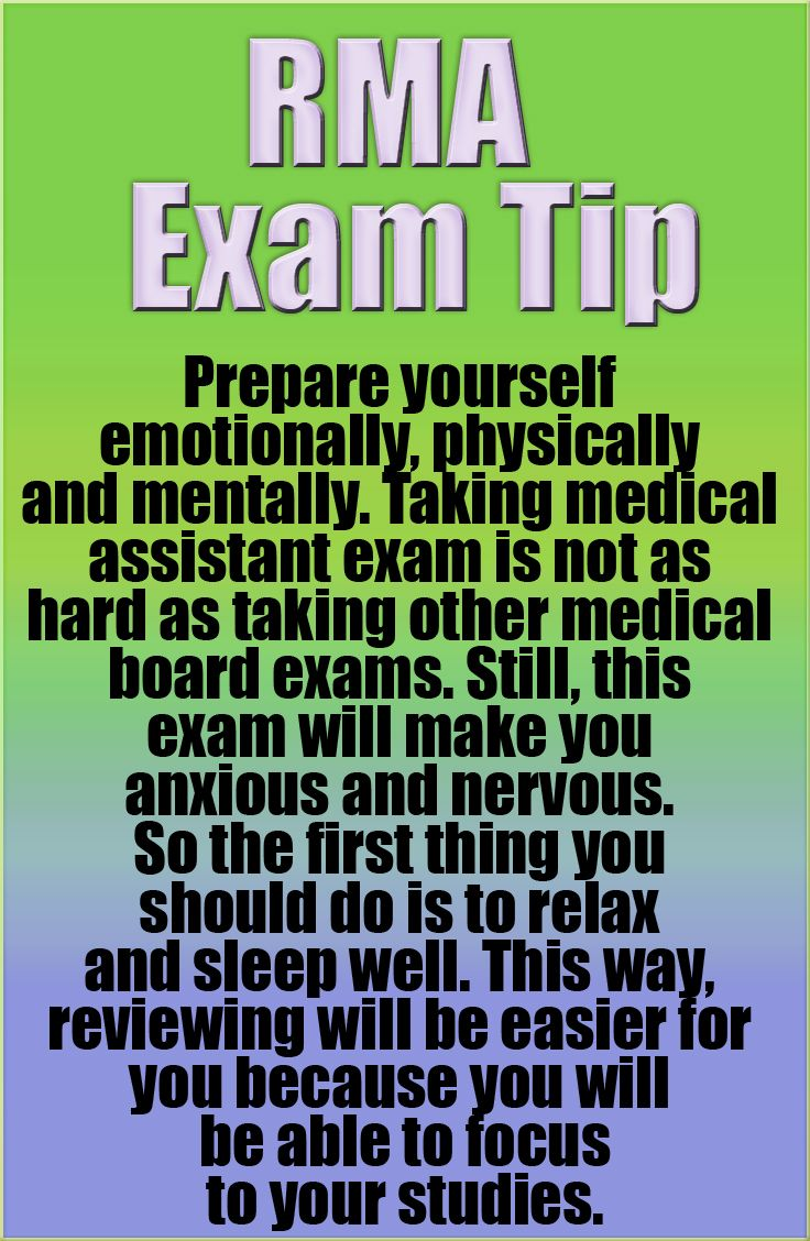 Registered medical assistant rma certification exam tip prepare registered medical assistant rma certification exam tip prepare yourself emotionally physically and xflitez Image collections