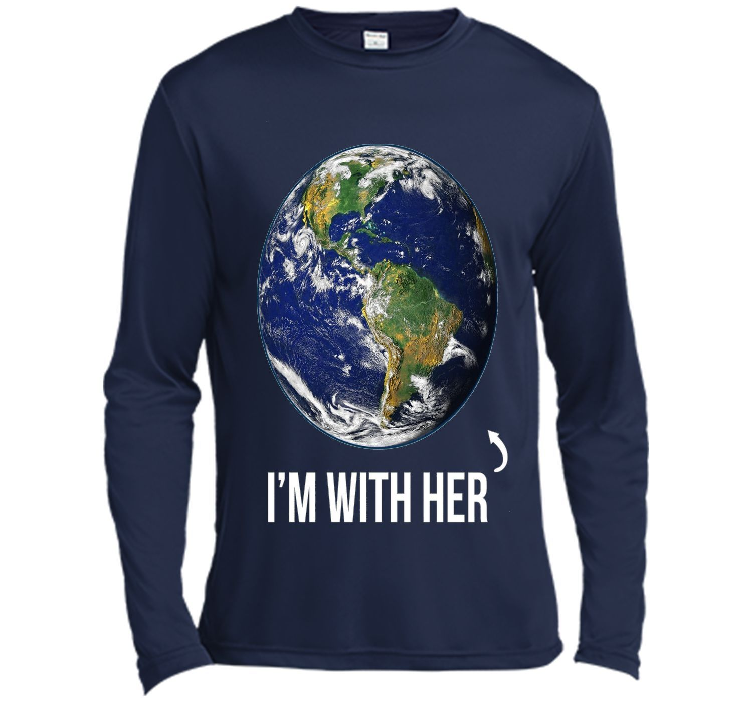 I'm With Her Mother Earth Tshirt