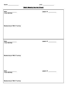 Formative Assessment Template Math  Miss Robbins Math Teacher