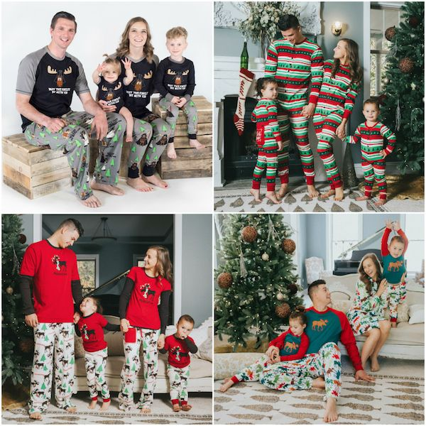 The Cutest Christmas Family Pajamas In Matching Styles For All Siz Matching Family Christmas Pajamas Family Christmas Pajamas Family Christmas Pictures Outfits