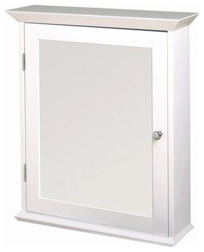 Classic White Swing Door Medicine Cabinet - W contemporary-medicine-cabinets