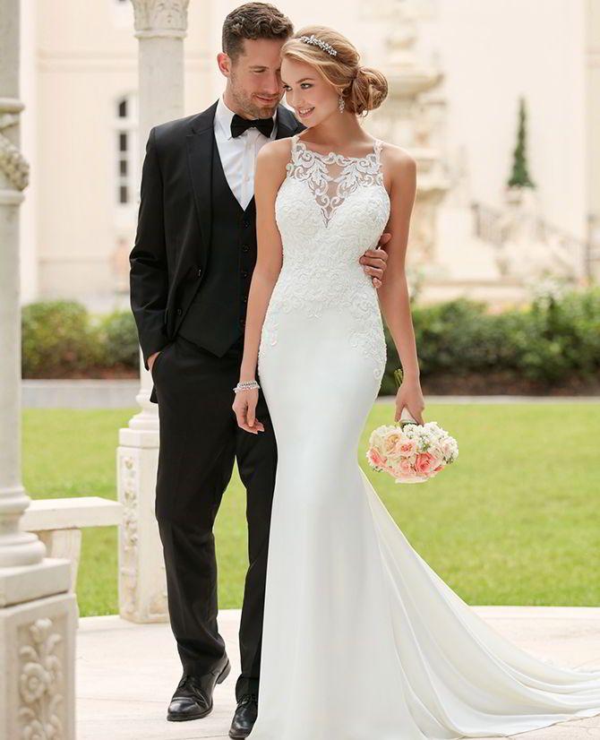 Diamante lace dress