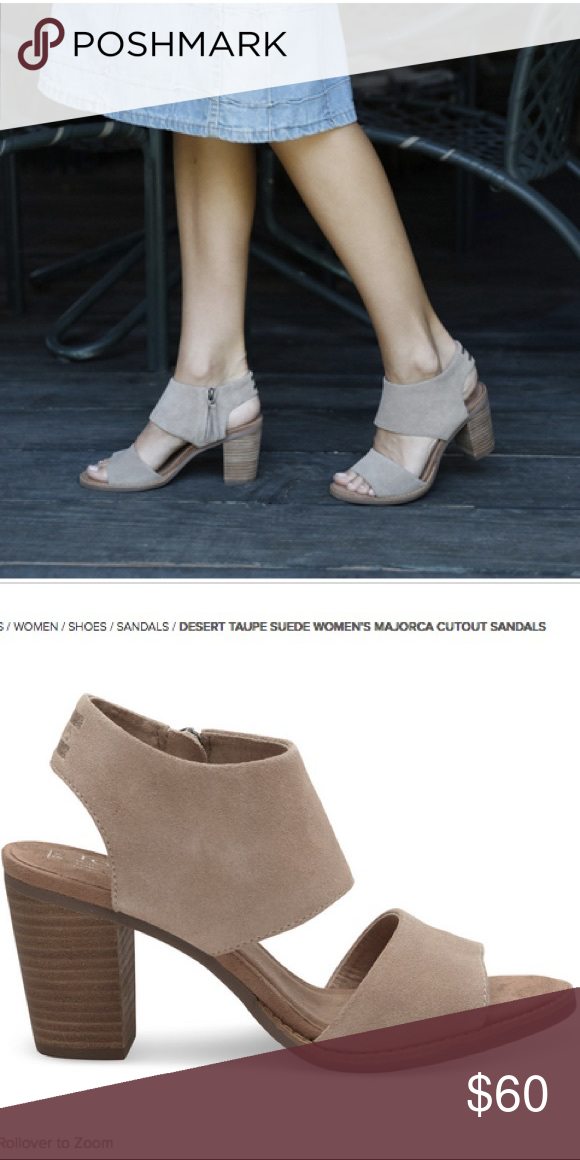 b58f8b15ab1 Desert taupe suede Majorca cutout sandal Desert taupe size 7 Worn once Toms  Shoes Sandals