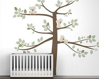Baby Enfants Pepiniere Wall Decal Koala Arbre Branche Autocollant