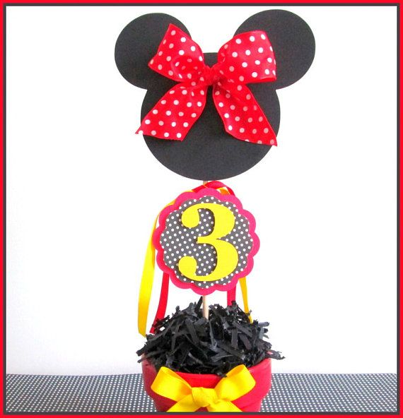 Minnie Mouse Party Decorations Minnie Mouse by LaLaLissyLou