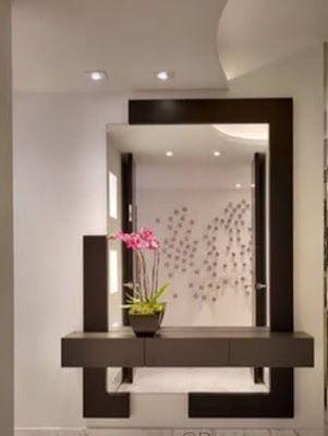 Modern Console Table Mirror Design Ideas 2019 Home Entrance Decor House Interior Decor Hall Decor