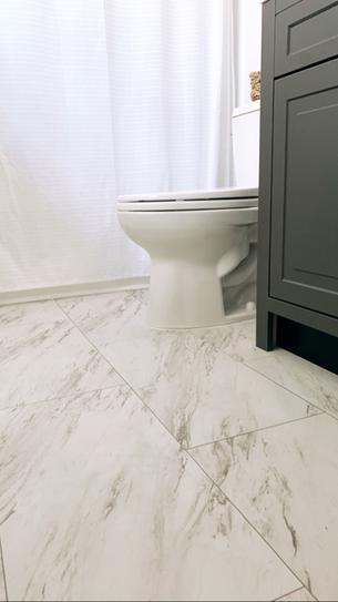 Trafficmaster Carrara Marble 12 In X 24 In Peel And Stick Vinyl Tile 20 Sq Ft Case Ss1212 The Home Depot In 2020 Vinyl Tile Peel And Stick Vinyl Marble Vinyl