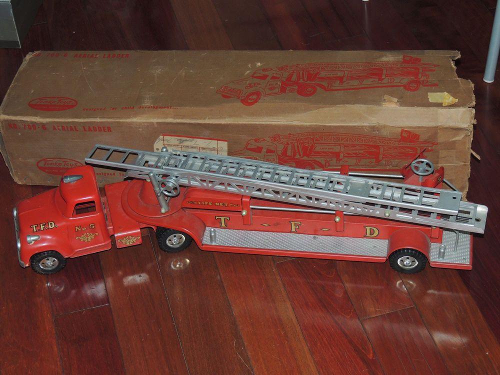 Vintage Tonka Toys 7006 Aerial Ladder TFD Life Net No. 5