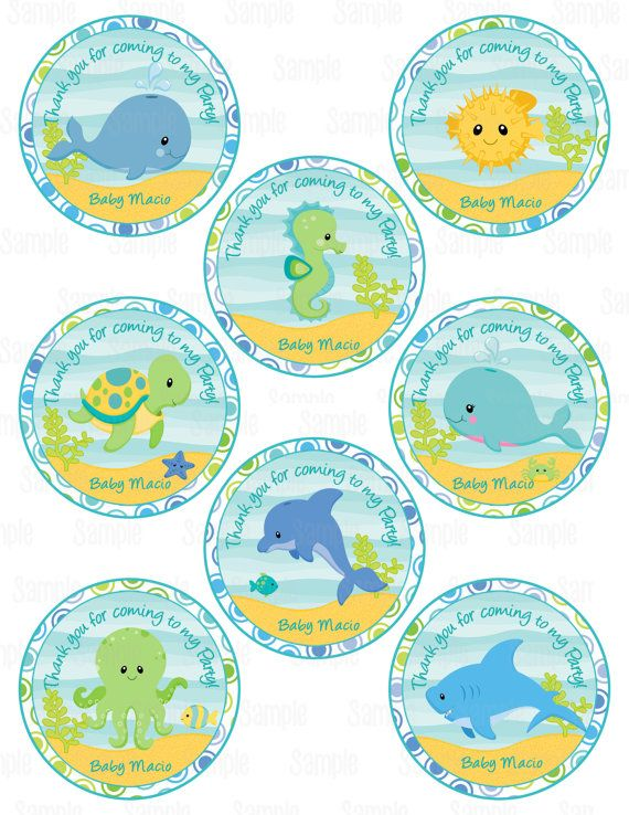 Printable Under The Sea Party Favor Tags Party Favor Tags Under