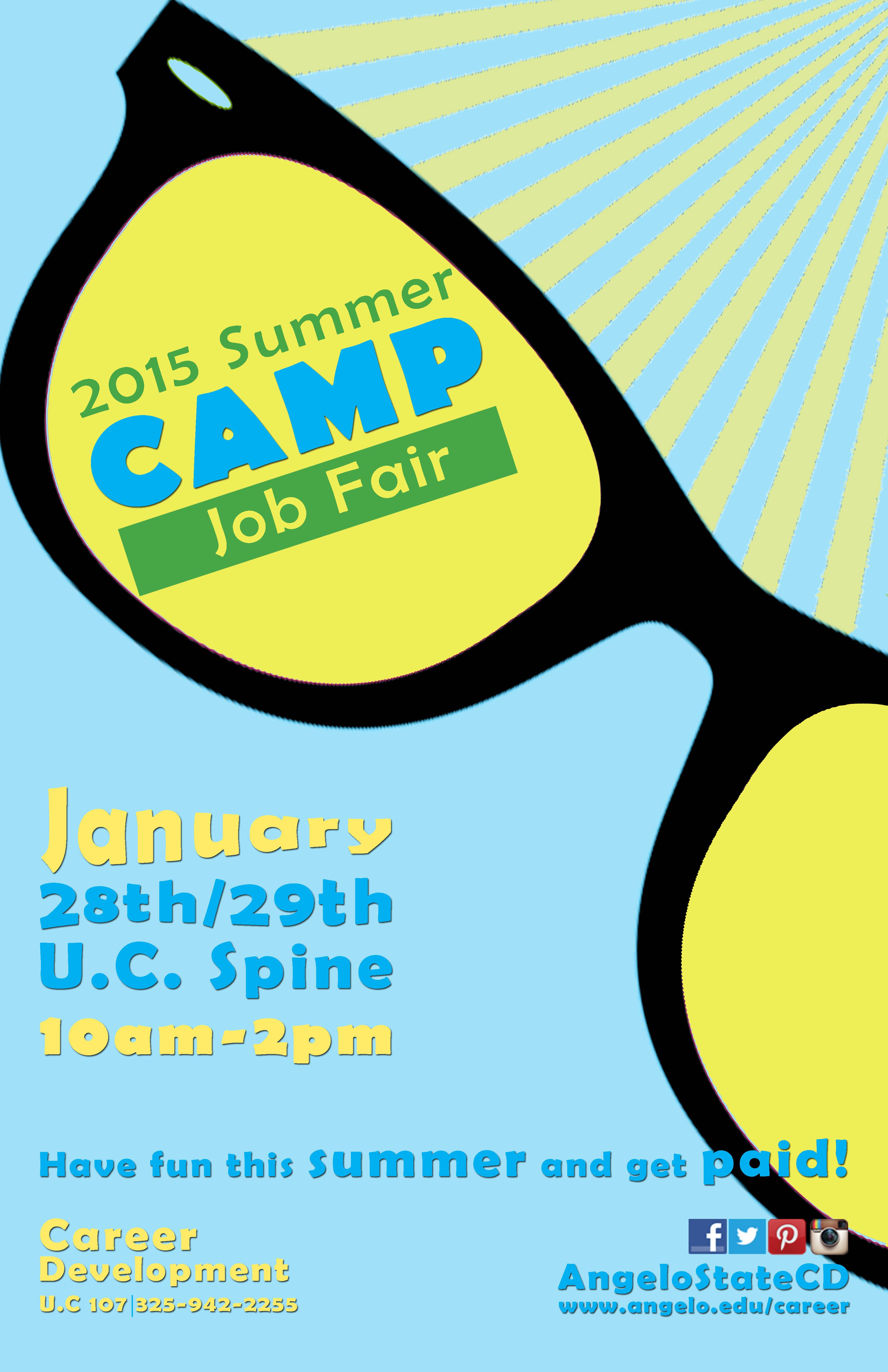 Summer Camp Job Fair Camp Jobs Job Fair Flyer