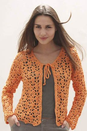 N.Y. Cotton Crochet Lacy Cardigan free pattern. Not available on ...