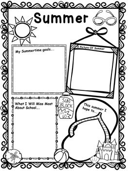 free summer writing activity worksheet teachery things end of year activities end of school. Black Bedroom Furniture Sets. Home Design Ideas