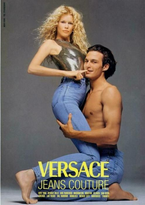 Claudia Schiffer Ad Versace Richard Avedon Vintage Versace