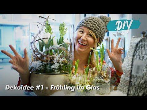 Dekoidee #1 Frühling im Glas - YouTube #frühlingblumen