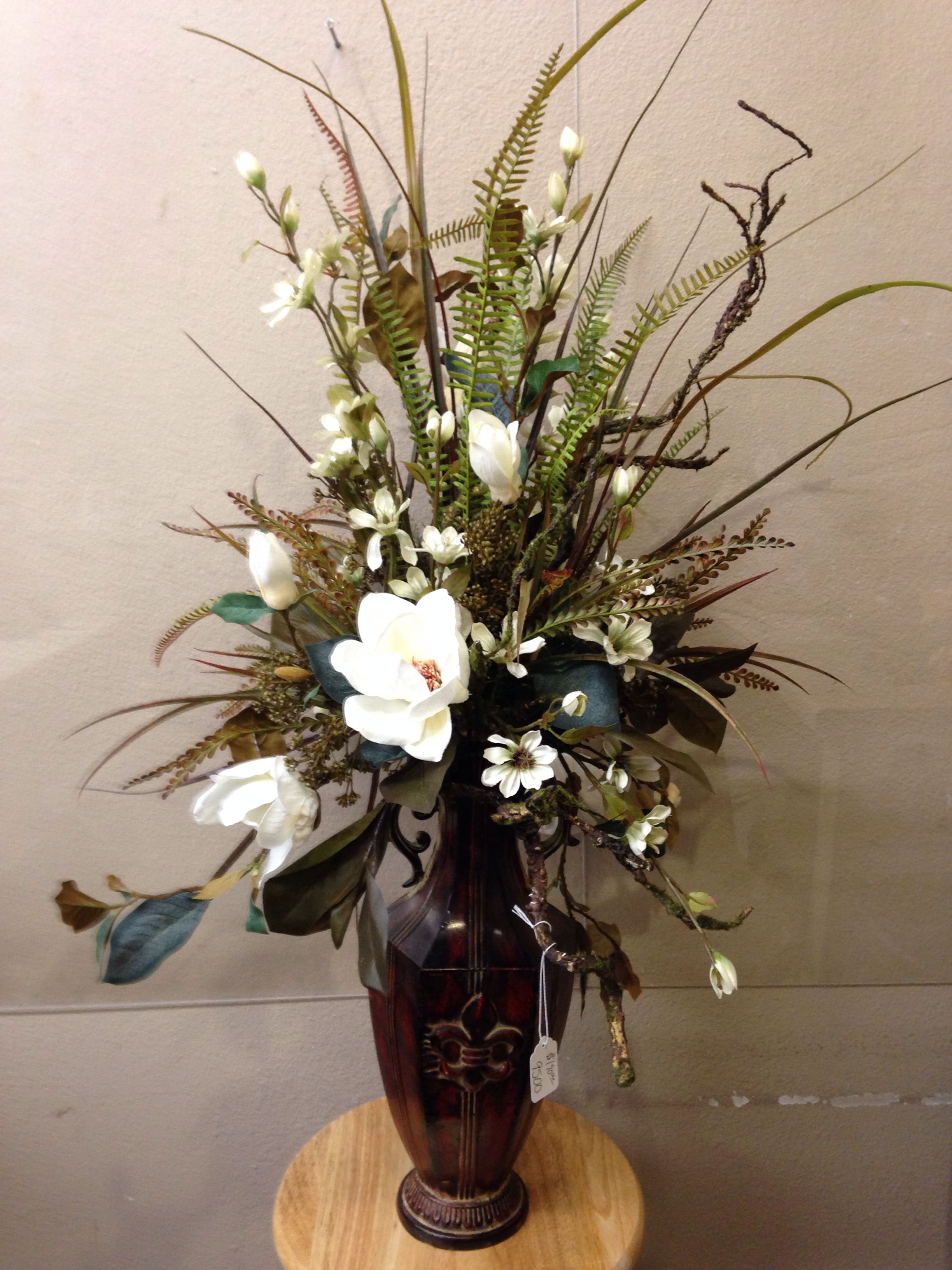 Everyday Magnolia Table Piece Dried Flower Arrangements Artificial Floral Arrangements Fall Floral Arrangements