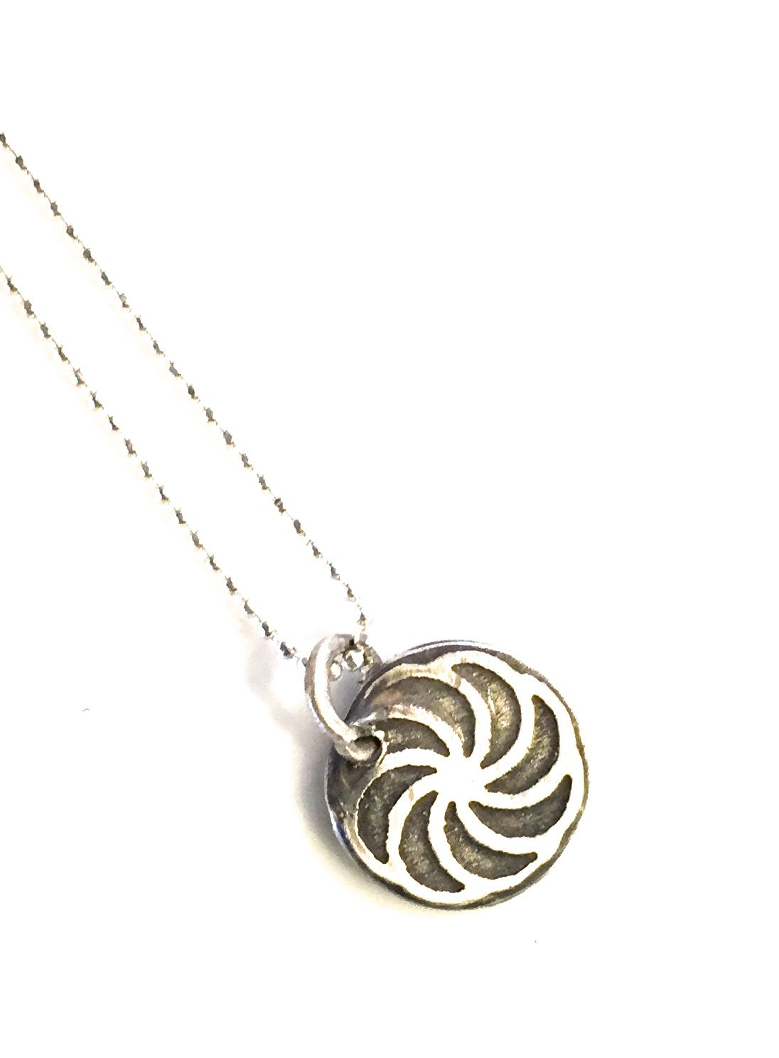 """The beautiful Armenian Eternity Symbol Handmade Sterling Silver 16 or 18"""" sterling silver chain Wear singly for a great minimalist look or layer as many as you like Disc measurement-1/2"""" diameter *Each piece is individually hand made no two are exactly alike..no molds"""