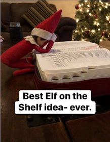 THOUGHT FOR THE DAY - ELF ON THE SHELF