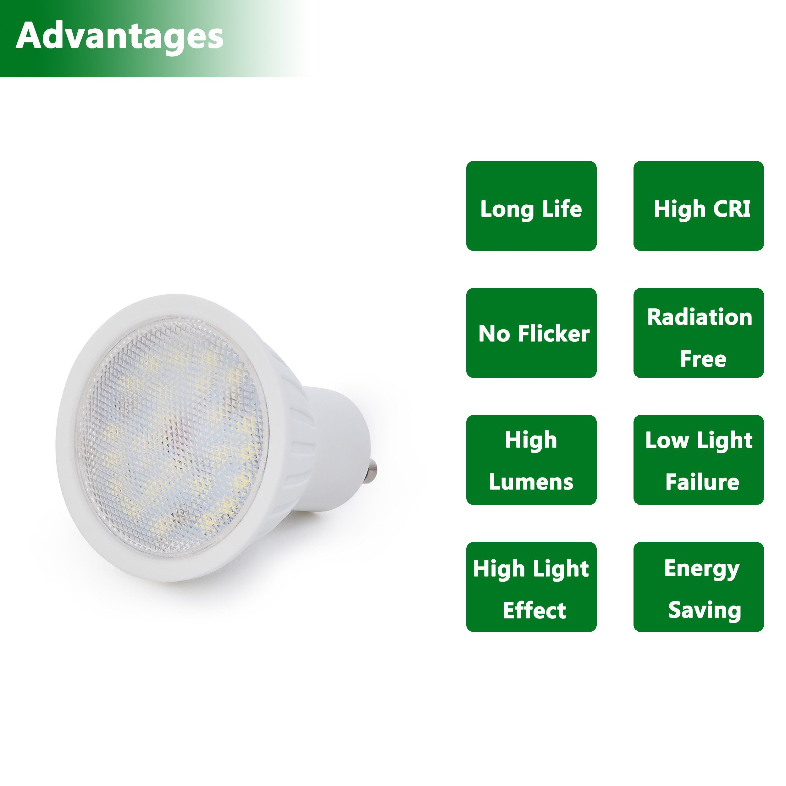 Gu10 Led Spot Lamp 5w 55w Replacement 4000k Natural White Gu10 120a Beam Angle Cri 85 120 Volt 500lm Spot Light Bulb Dimmab Light Energy Led Spot Light Bulb