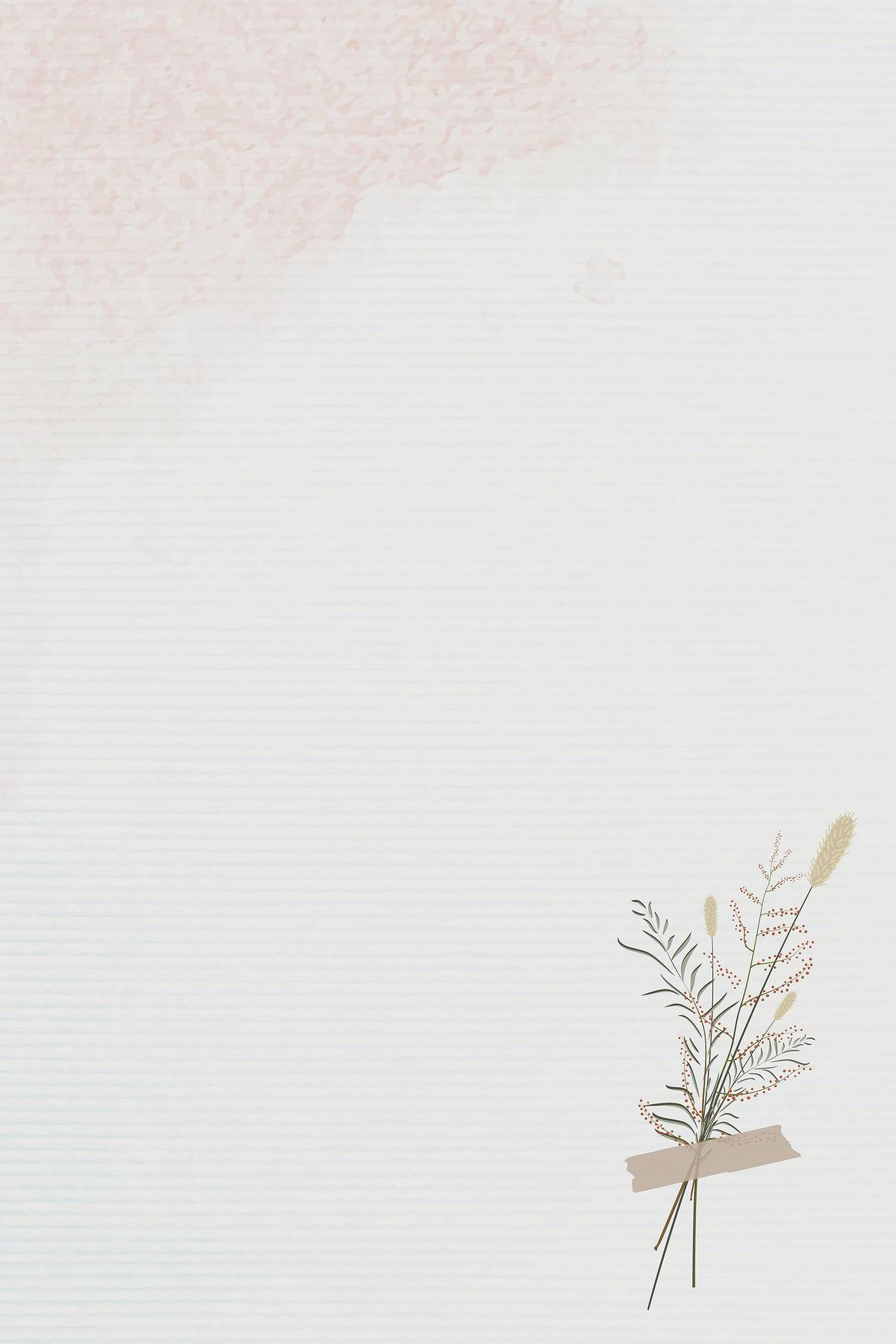 Download premium vector of Vintage leaves design background vector by marinemynt about hand drawn, beige background flower, background, beige, and blank 1228922