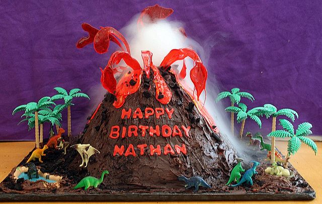 erupting volcano cake by The Cake Boutique