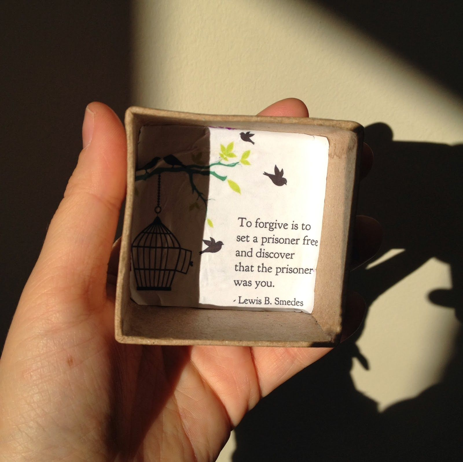 Beginning A Forgiveness Box With A Quote To Forgive Is To