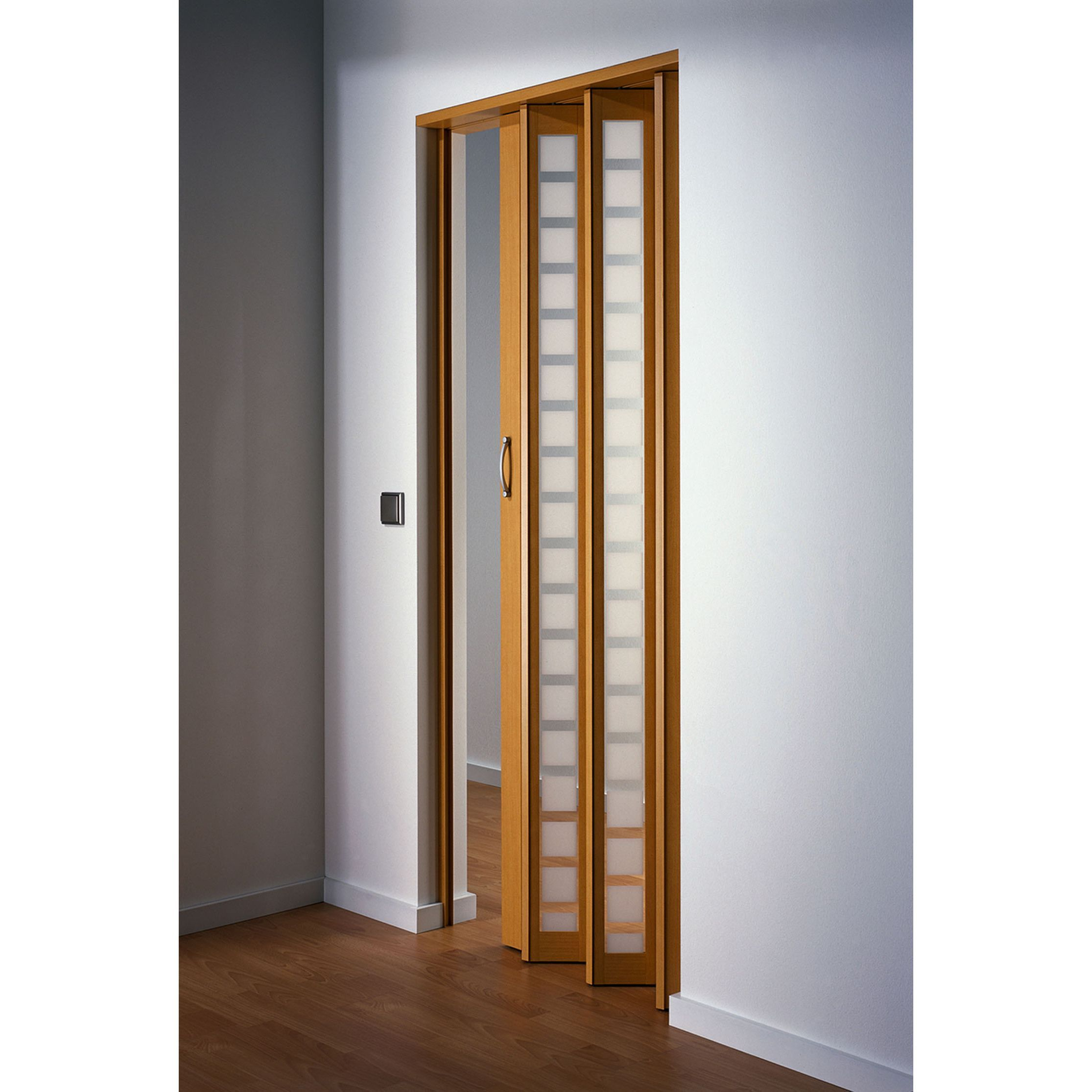 Homestyle Metro Beech with Frosted Squares Folding Door by Homestyle  sc 1 st  Pinterest & Homestyle Metro Beech with Frosted Squares Folding Door by ... pezcame.com