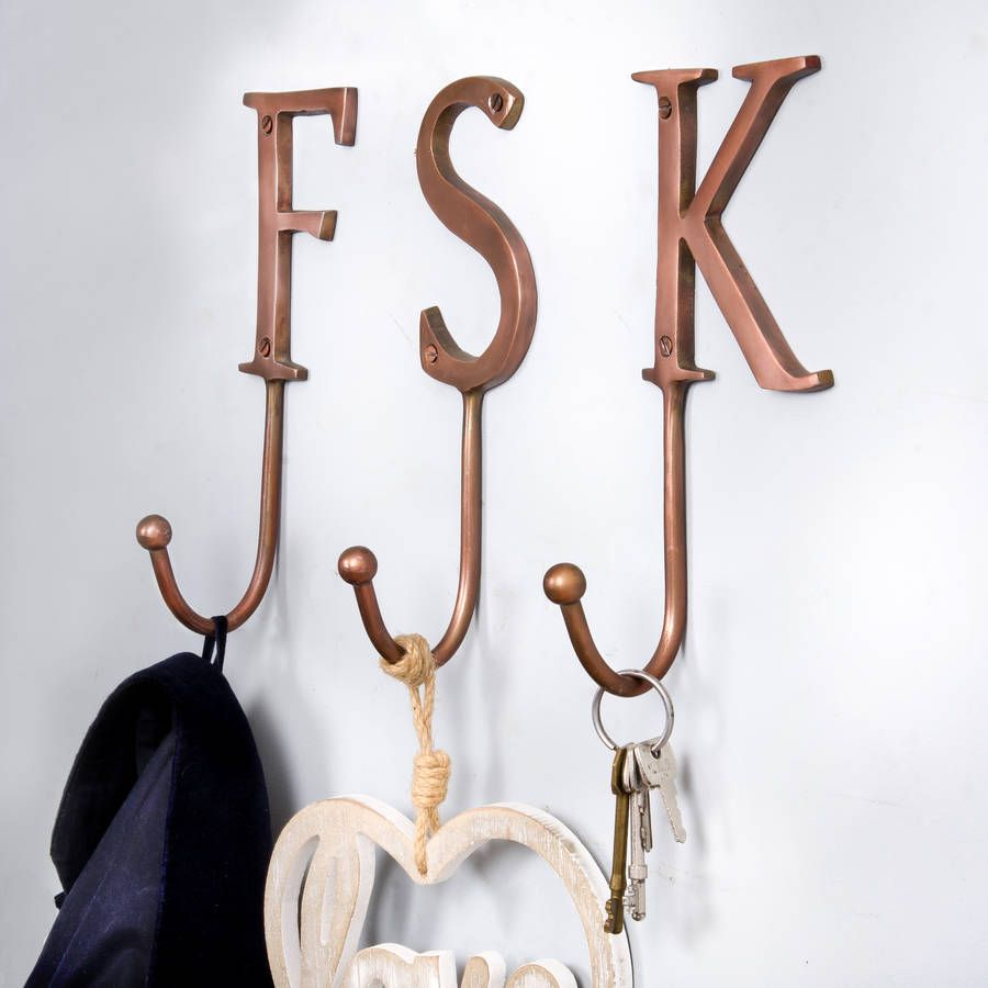 Bronze Metal Letter Hooks in 2019 | Home Decor | Metal letters