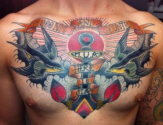Traditional Nautical Sailor Tattoos Meanings Origins Ideas Sailor Tattoos Chest Tattoo Men Traditional Chest Tattoo