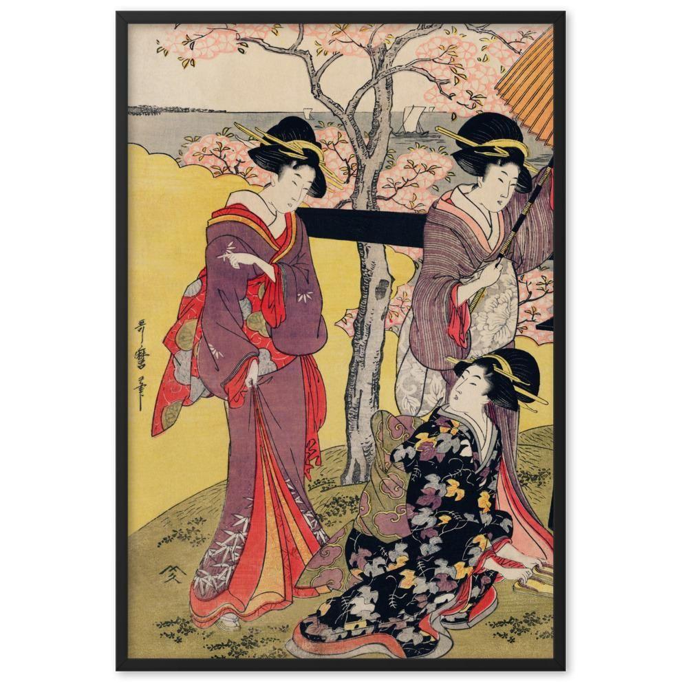 Gotenyama no Hanami Hidari by Utamaro Kitagawa Art Print - 61×91 cm / Black