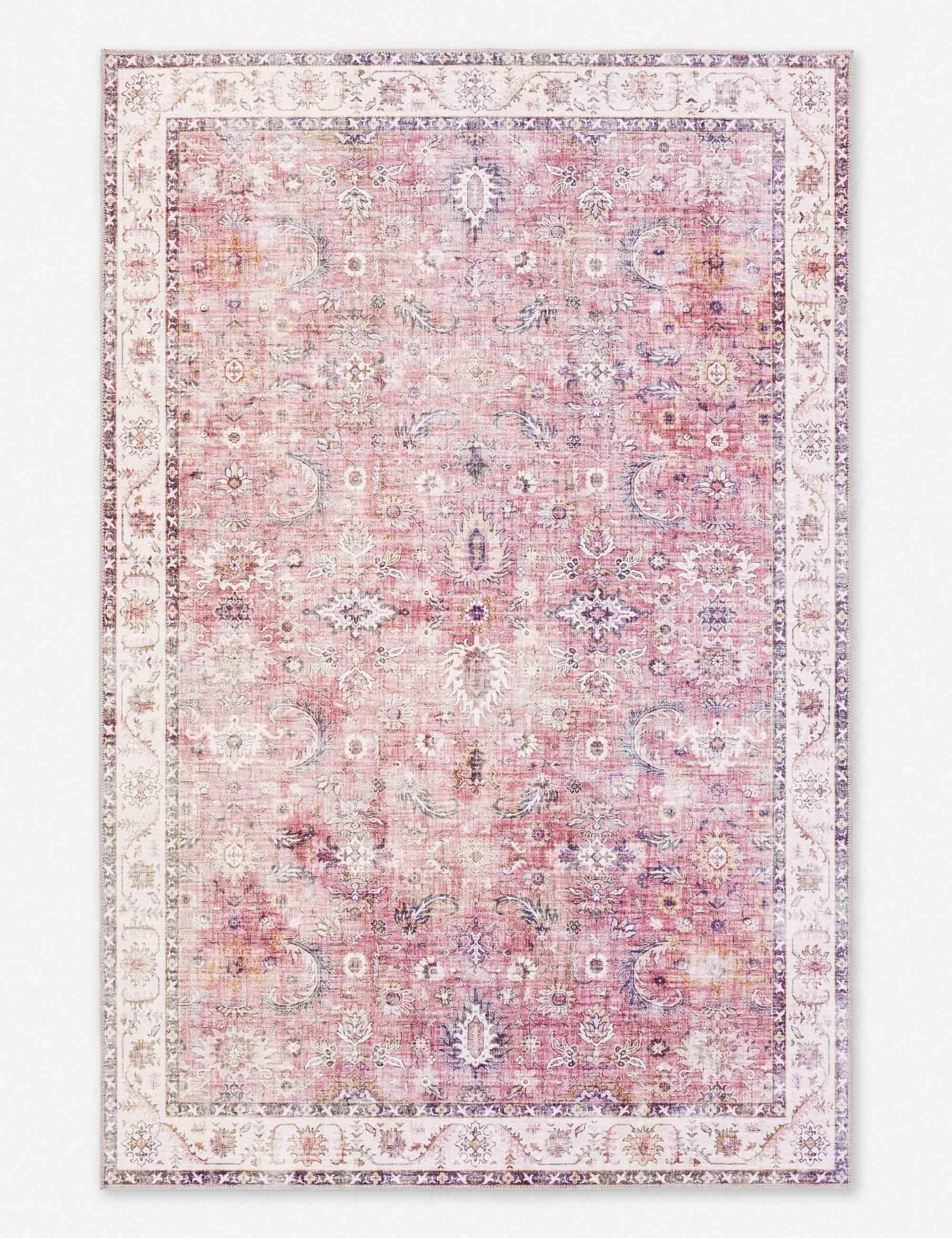 Denay Rug Pink 7 6 Quot X 9 6 Quot In 2020 Pink Blue Rug