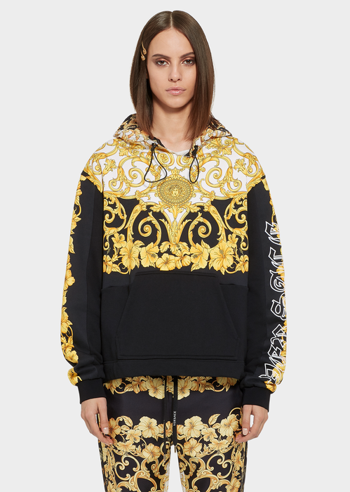 a25411f412 Gold Hibiscus Print Hoodie for Women   Online Store EU in 2019 ...