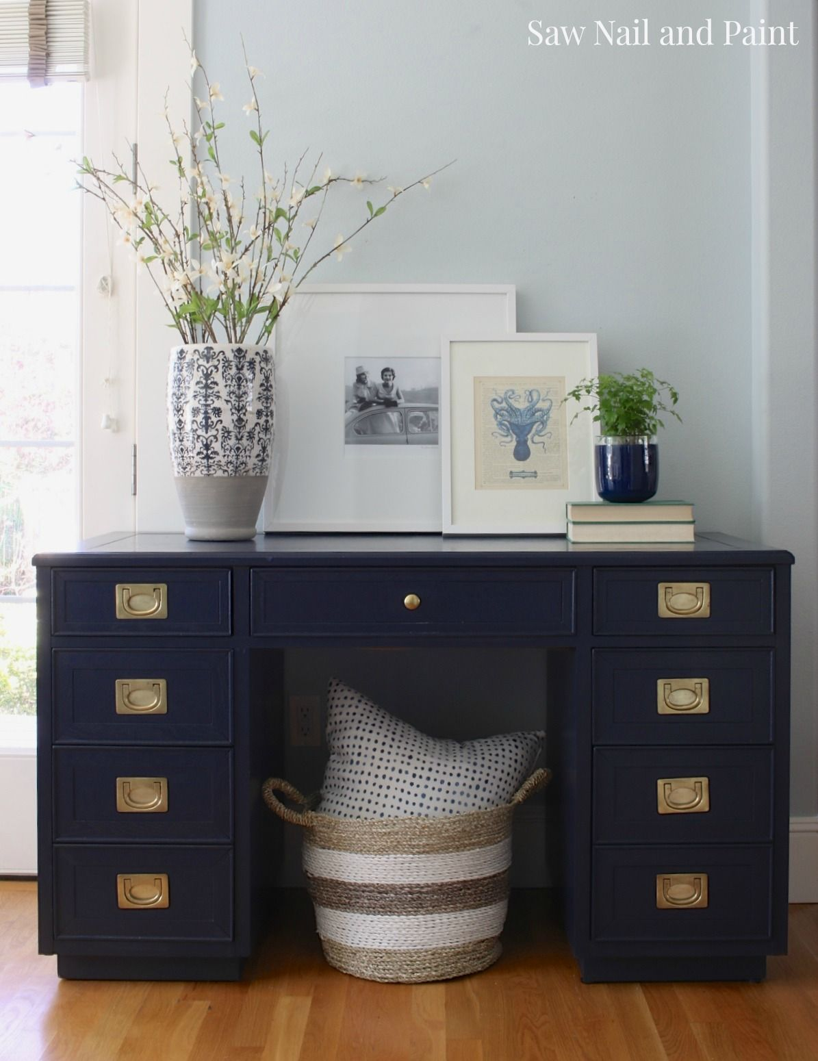 navy blue desk. Hello Again Friends! I Am Often Asked Where Find The Furniture Refinish. Most Of My Pieces Come From Thrift Shops And Craigslist. Navy Blue Desk A