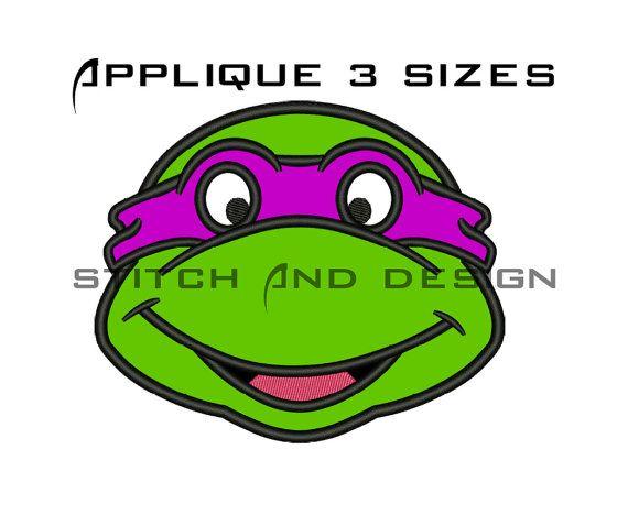 Ninja Turtle Embroidery Design Ninja Turtle Applique Design Mutant