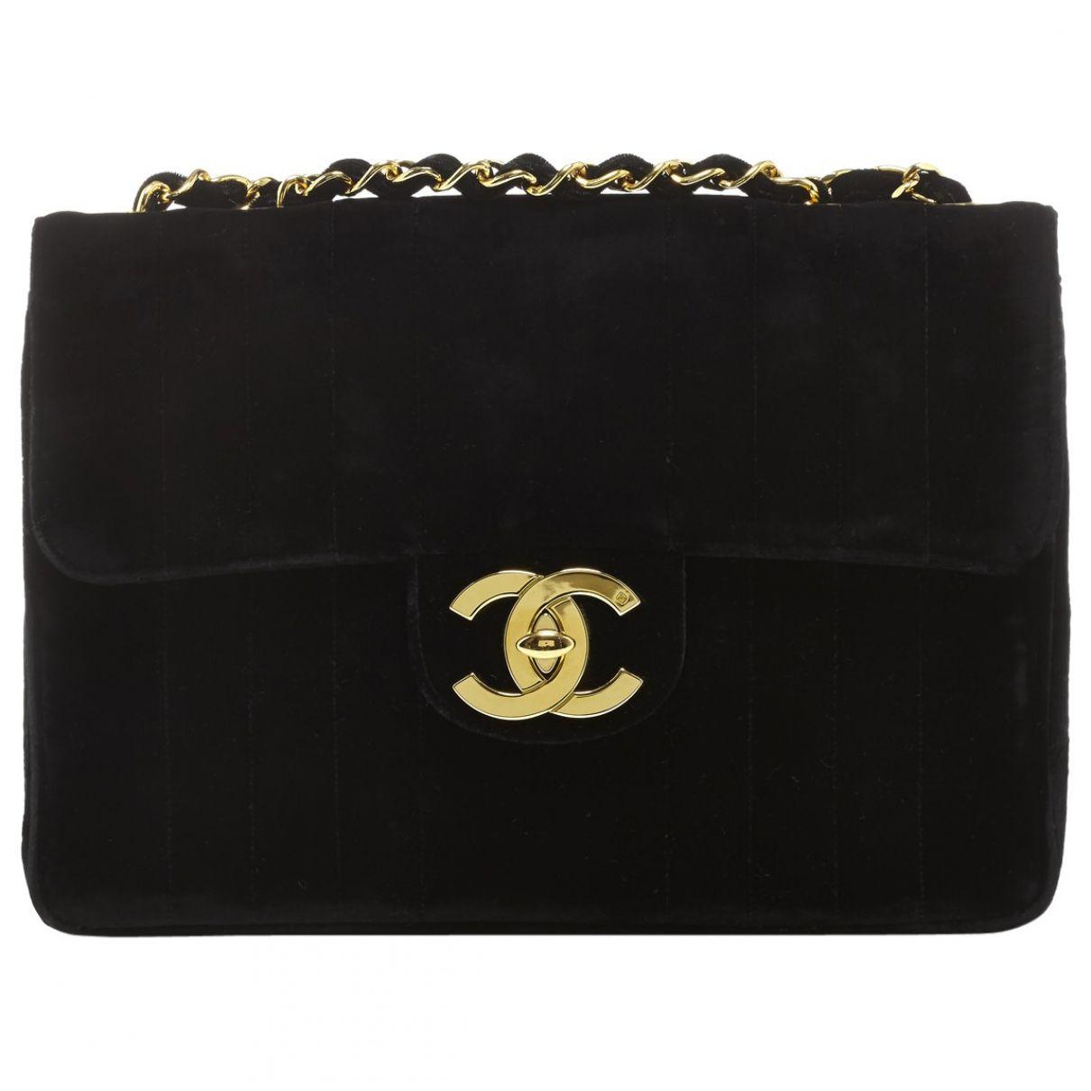 Chanel Black Velvet Handbag Timeless  fa0cabf13b099