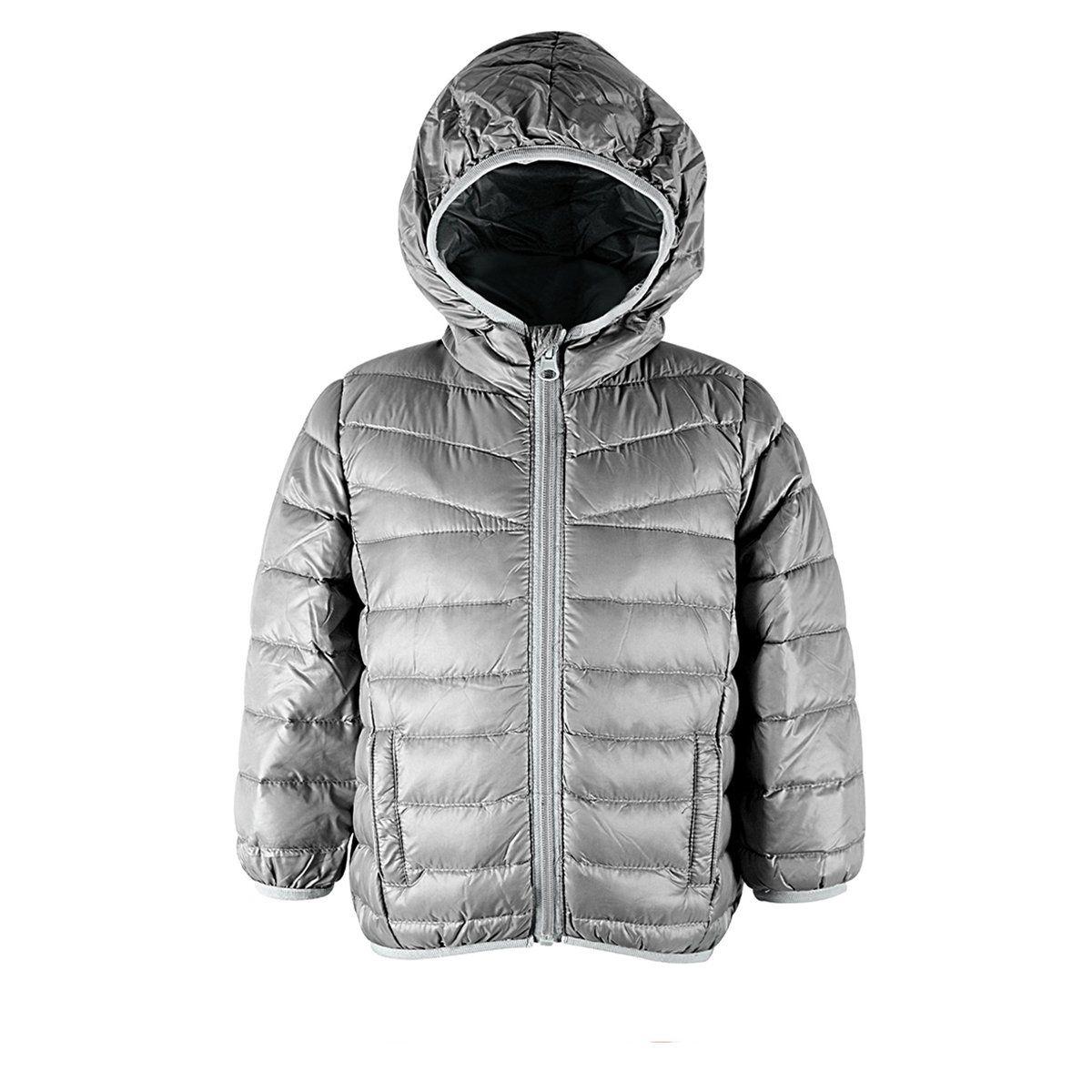 Durio Boy Kids Hooded Solid Down Coat Winter Packable Puffer Coat For Children Warm Soft Jacket Heather Grey Beige Girls Jacket Zipper Outerwear Soft Jacket [ 1200 x 1200 Pixel ]