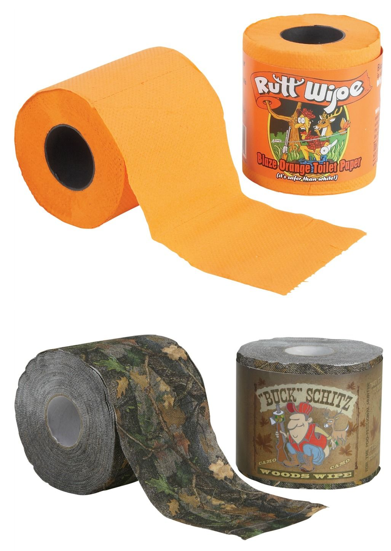 Rutt Wipe & Buck Schitz Camo Toilet Paper | Ultimate Gag Gifts ...