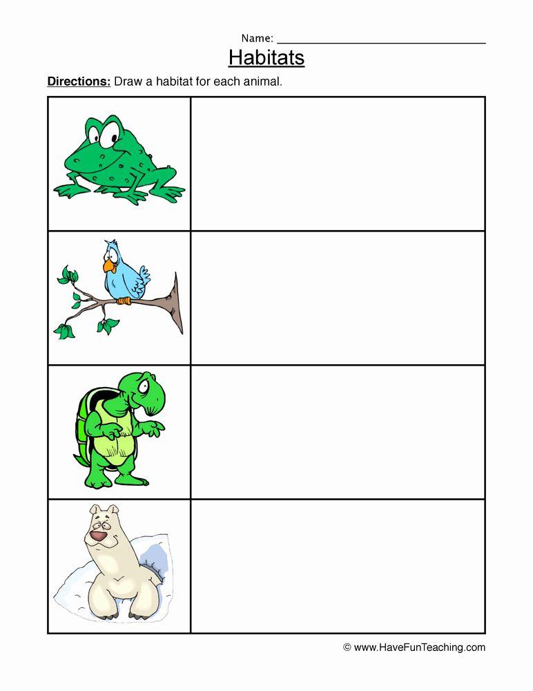 Animal Habitats For Kindergarten Worksheet Kindergarten Worksheets Kindergarten Worksheets Printable Animal Habitats Animal habitat worksheets for kindergarten