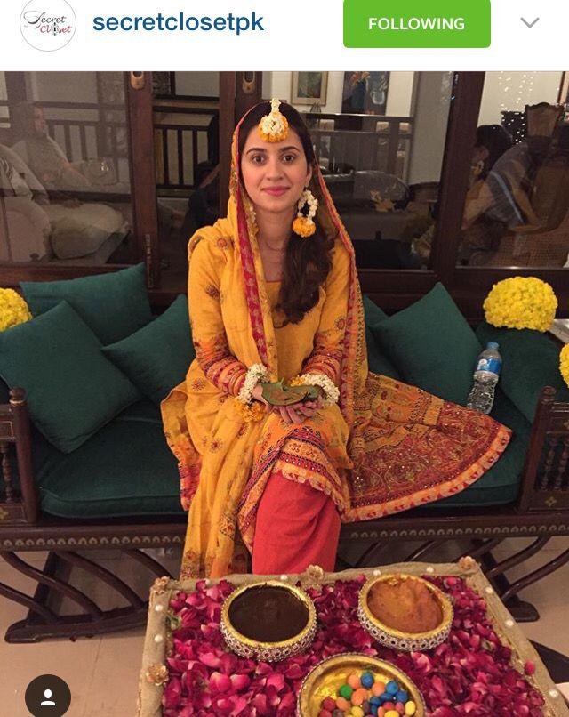 Such a pretty mayun bride! | Pakistani Mehndi Brides in 2019