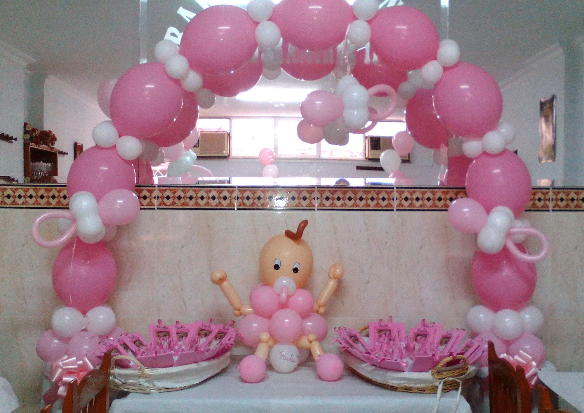 Decoración con globos Bautizo