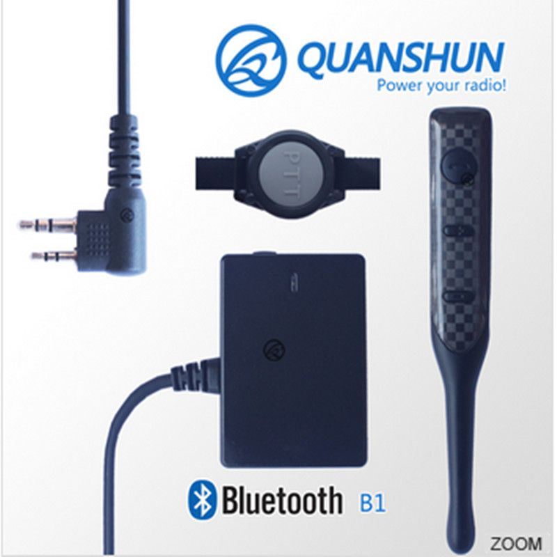 Bluetooth headset+bluetooth adapter+PTT button, making your