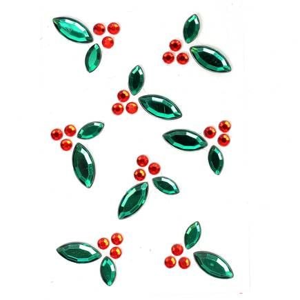 Make it merry holly gem stickers 8 pack hobbycraft christmas decorative gem embellishments solutioingenieria