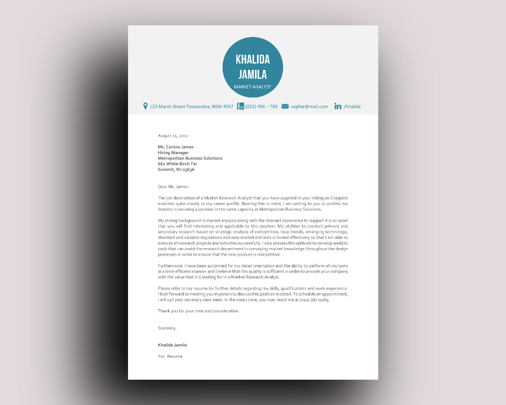Big icon modern resume template Big icon