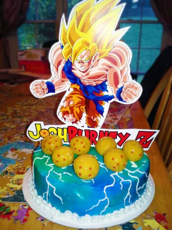 Dragon Ball Z Cake Decorations Dragon Ball Z Cake  *far's Cupcakes*  Pinterest  Dragon Ball