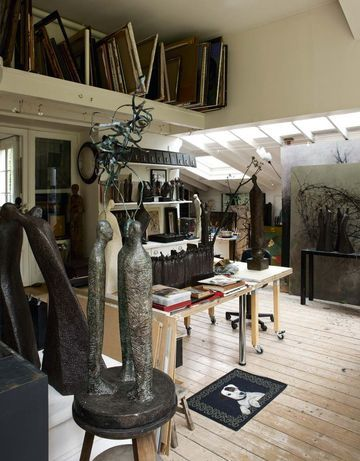L'atelier de Yanne // Artist studio  | More photos petitlien.fr/6zo6