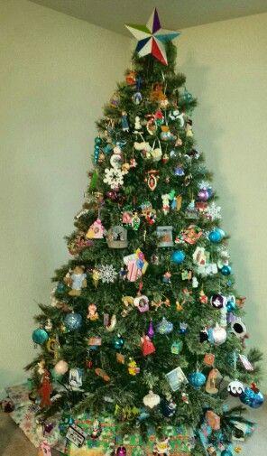 Multi color Christmas tree Christmas Tree Pinterest Christmas tree