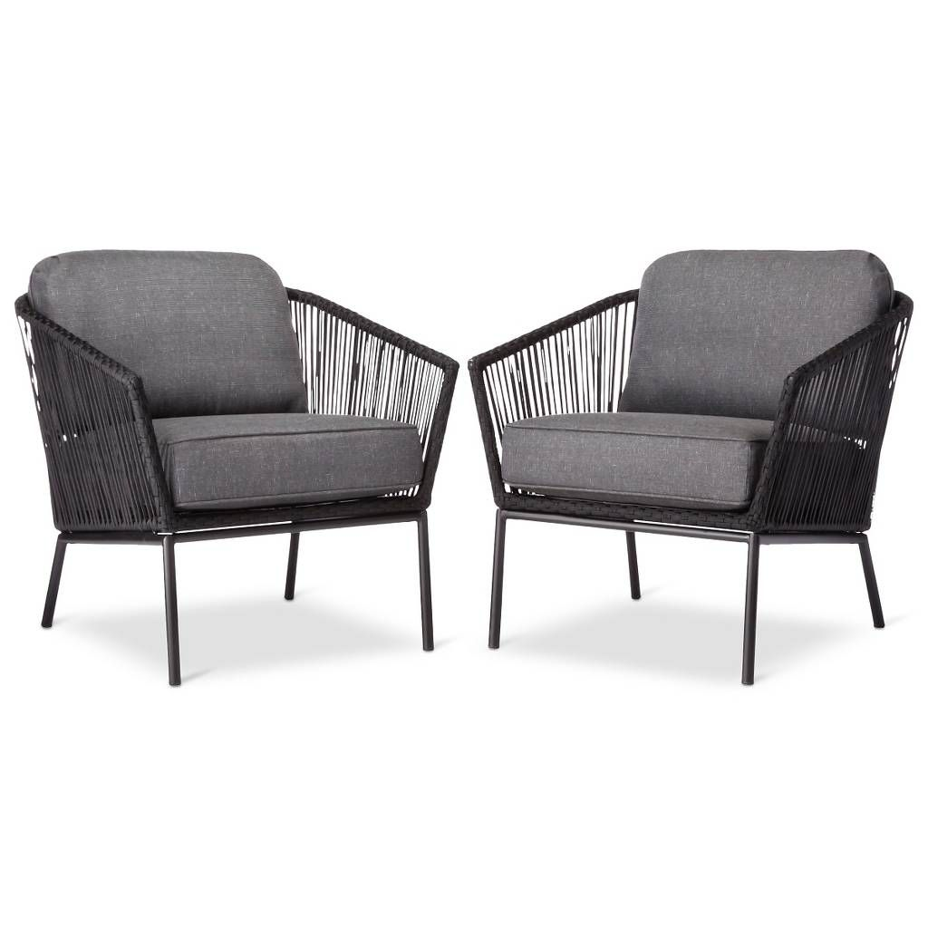 Standish 2pk Patio Club Chair Black/Gray Project 62